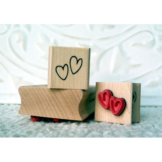 Mini Hearts Rubber Stamp
