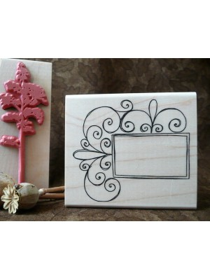 Curly Frame Rubber Stamp