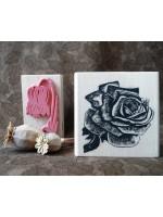 Vintage Rose Rubber Stamp