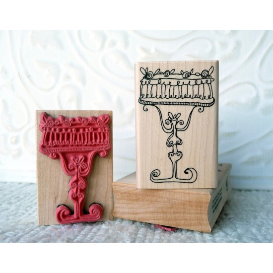Decadent Cake Rubber Stamp