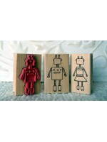 He Robot Rubber Stamp