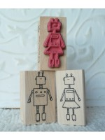 She Robot Rubber Stamp