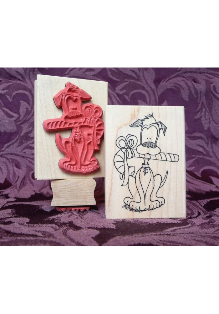 Christmas Boomer Rubber Stamp