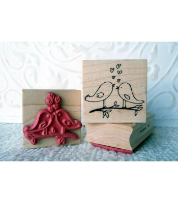 Love Birds Rubber Stamp
