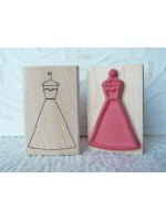 Wedding Dress Rubber Stamp