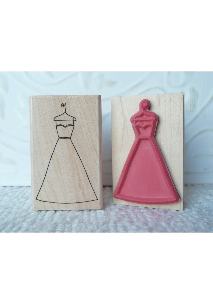 Wedding Dress Rubber Stamp
