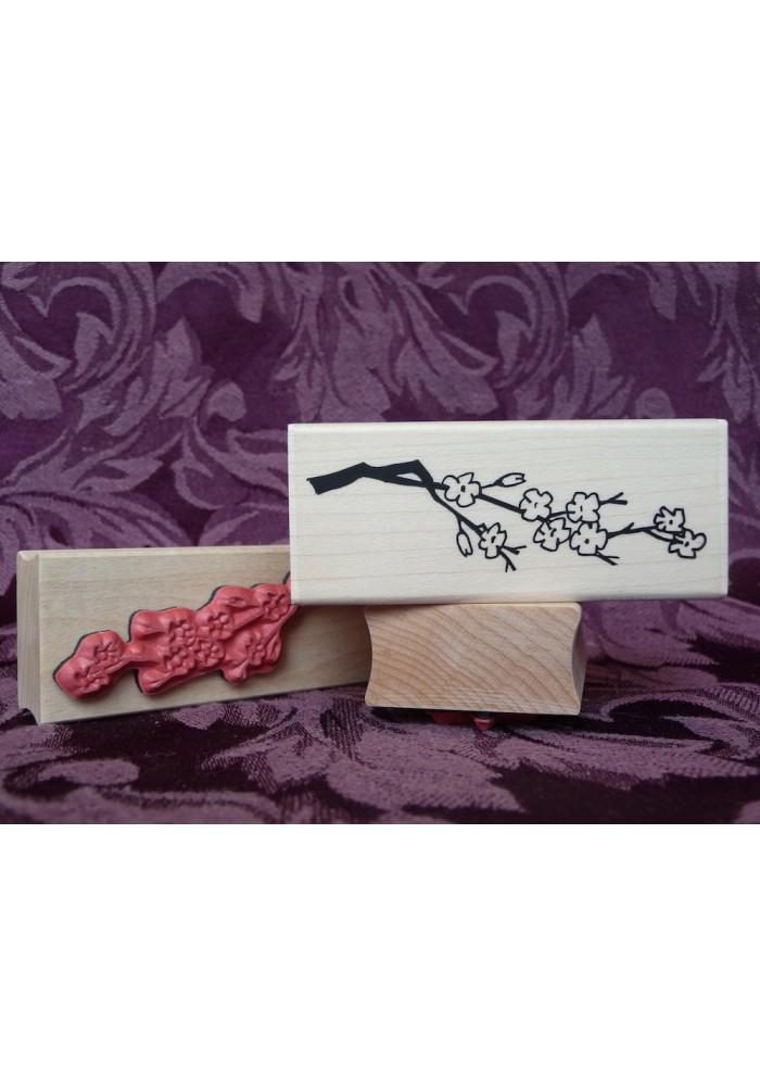 Cherry Blossom Branch Rubber Stamp