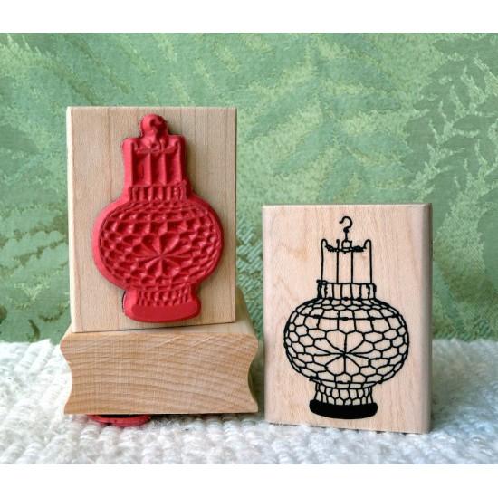 Chinese Lantern Rubber Stamp