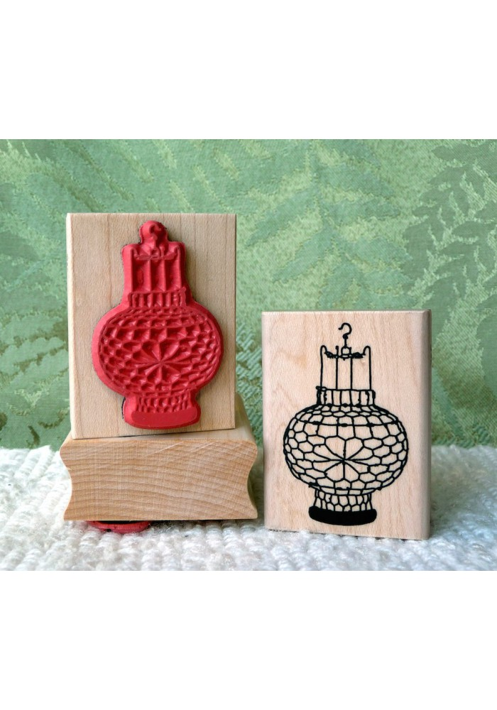 Chinese Lantern Rubber Stamp
