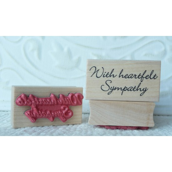 With Heartfelt Sympathy Rubber Stamp
