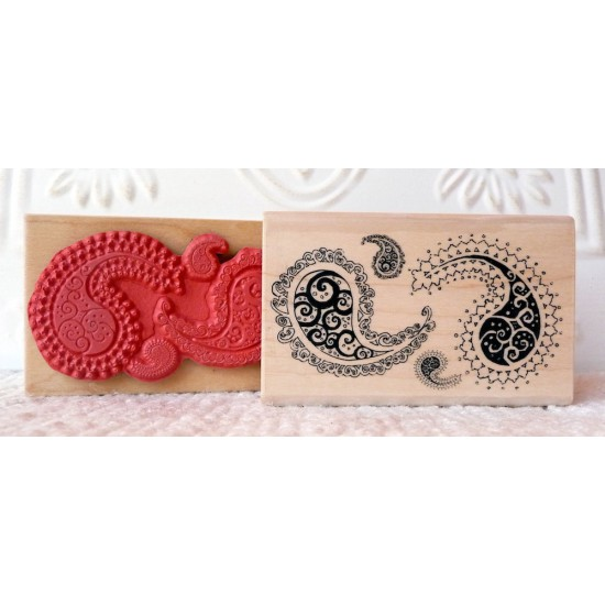 Paisley Rubber Stamp