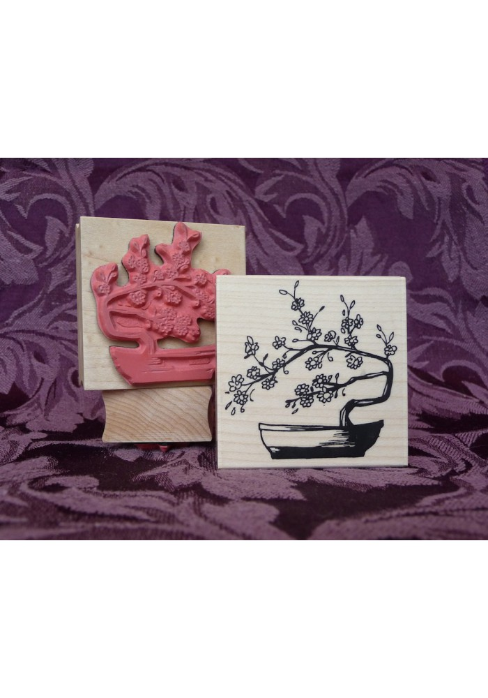 Bonsai Rubber Stamp