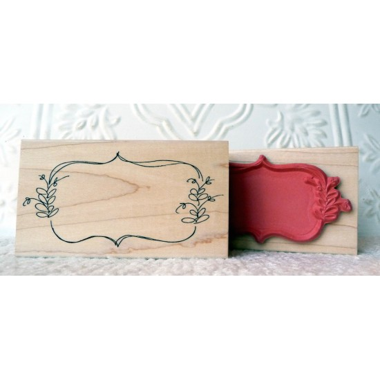 Organic Frame Rubber Stamp