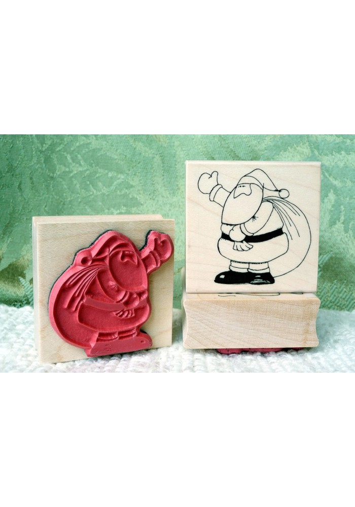 Santa with Sack Rubber Stamp