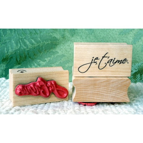 Je t'aime Rubber Stamp