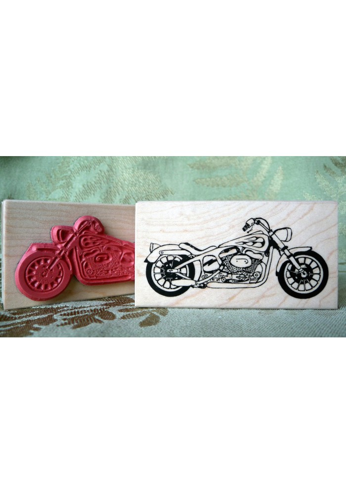 Twin V Motorcycle Rubber Stamp