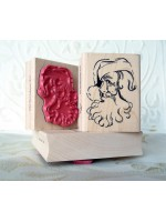 Santa's Smile Santa Claus Rubber Stamp