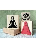 Yoga Girl Rubber Stamp