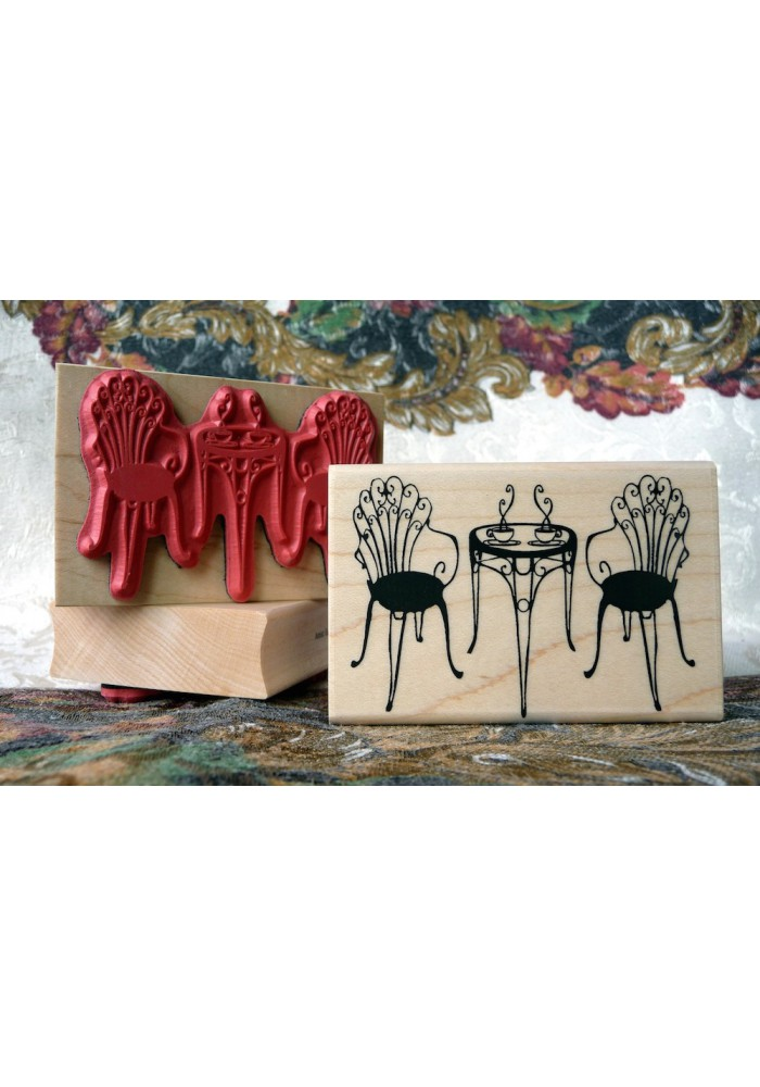 Positano Patio Bistro Table Rubber Stamp