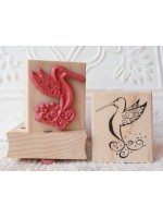 Summer Hummer Hummingbird Rubber Stamp