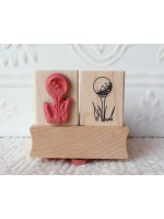 Golf Tee Rubber Stamp