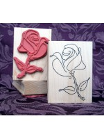 Rose to Behold Rubber Stamp