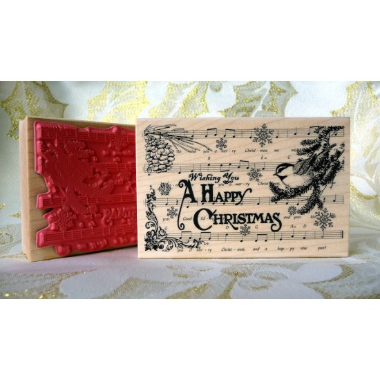 Christmas Collage Rubber Stamp
