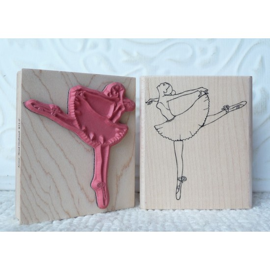 Ballerina Rubber Stamp