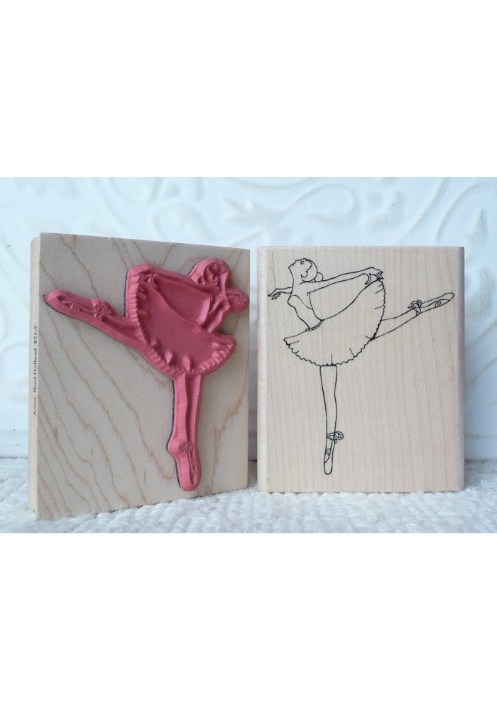 Ballerina Rubber Stamp