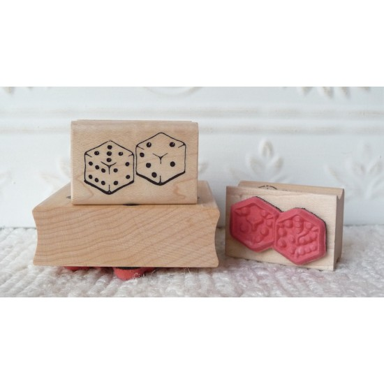 Dice Rubber Stamp