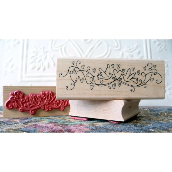 Lovey Doves Rubber Stamp