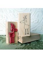 Randy Reindeer Rubber Stamp
