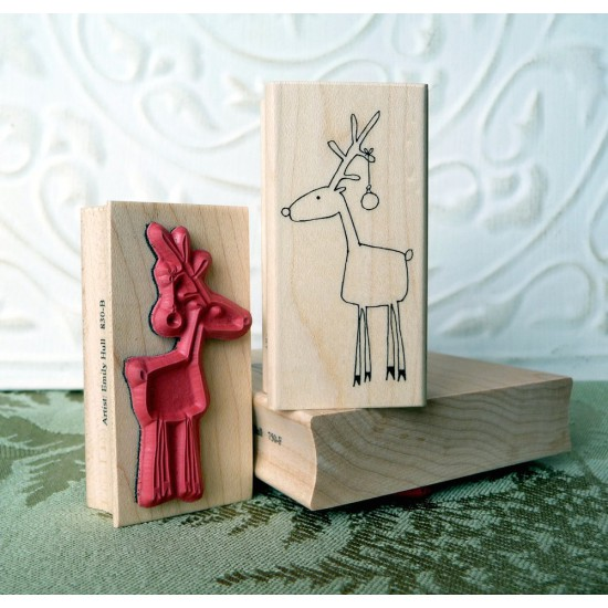 Randy Reindeer Rubber Stamp