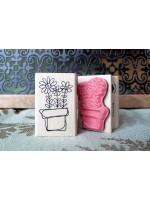 Little Flower Pot Rubber Stamp