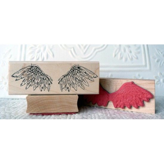Guardian Angel Wings Rubber Stamp