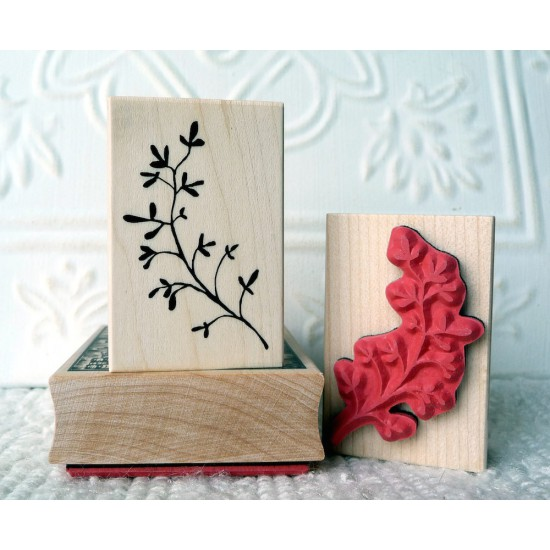 Spriggy Thing Branch Rubber Stamp