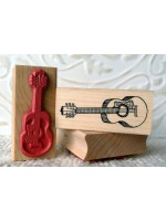 Acoustic Guitar Rubber Stamp