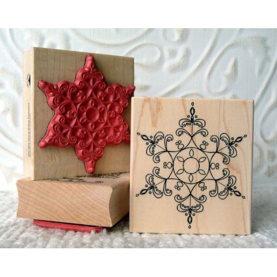 Perfect Snowflake Rubber Stamp