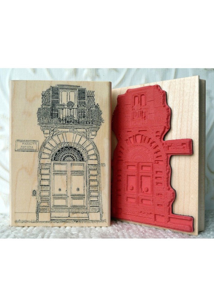 Piazza Navona Rubber Stamp