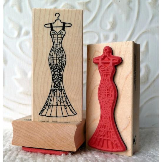 Siren Dress Rubber Stamp