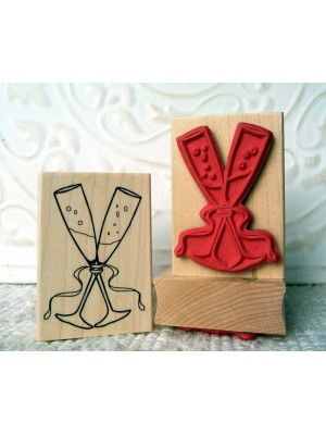 Flutes for 2 Rubber Stamp