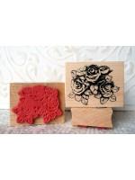 Rose Cluster Rubber Stamp