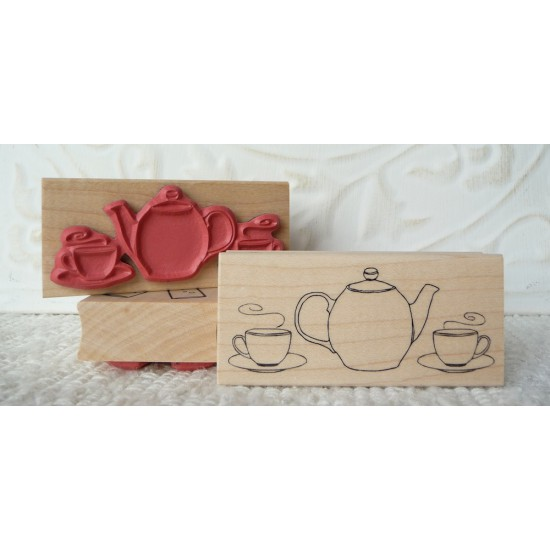 Tea for Two Rubber Stamp