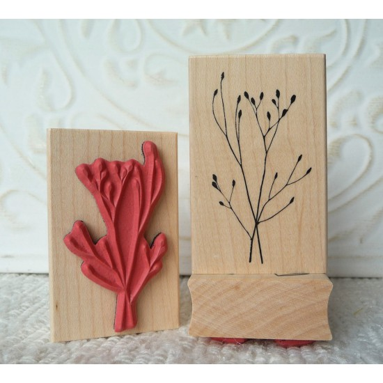 Winter Grass Rubber Stamp
