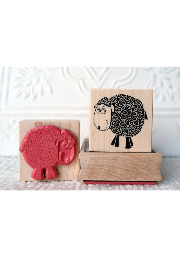 Bashful Sheep Rubber Stamp