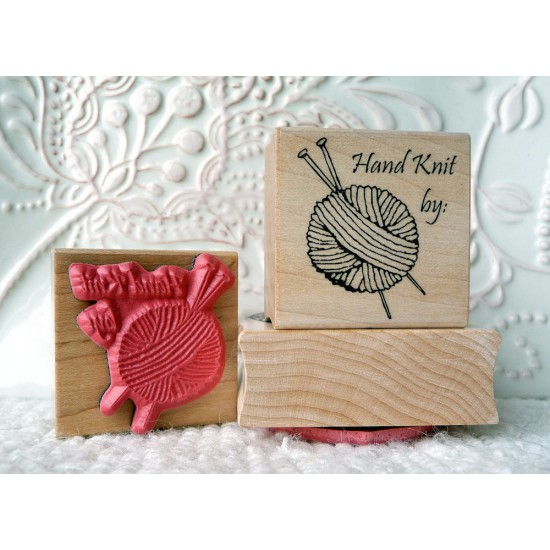 Hand Knit By Rubber Stamp