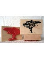 Serengeti Tree Rubber Stamp
