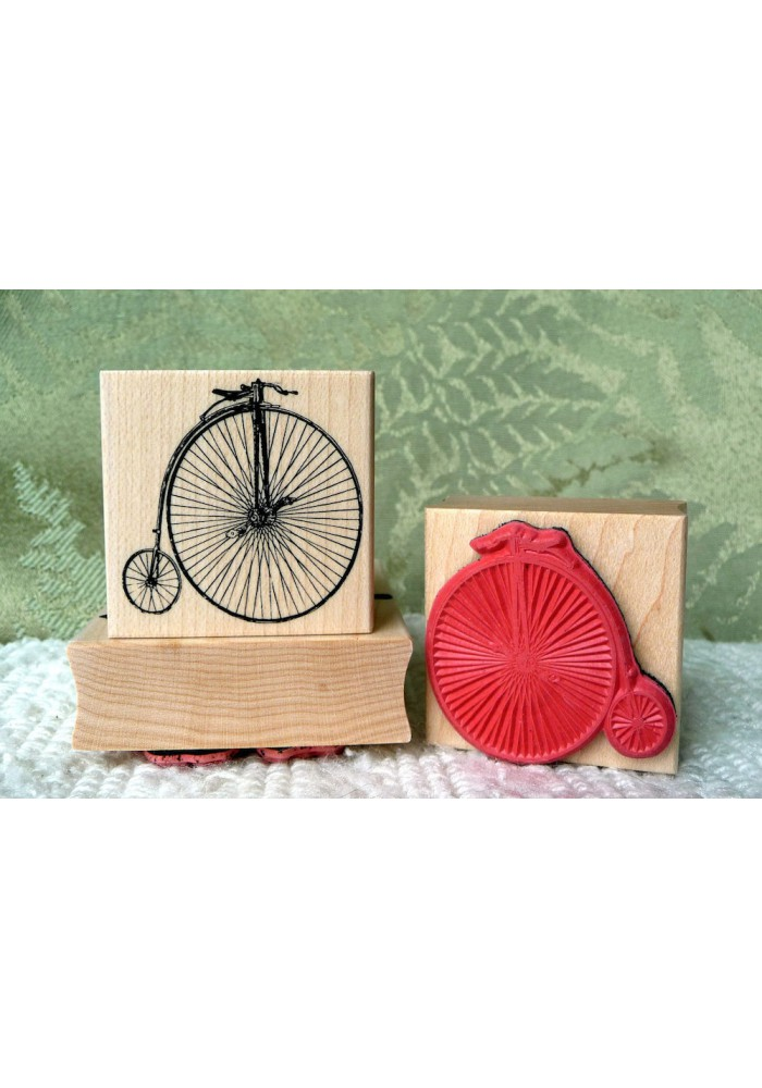 Penny Farthing Rubber Stamp