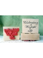 Celebrating A Wonderful Life Rubber Stamp