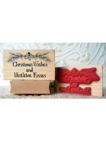 Christmas Wishes and Mistletoe Kisses Rubber Stamp